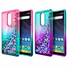 For Coolpad Legacy Case Liquid Glitter Bling Soft Phone Cover +3D Tempered Glass