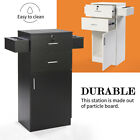 Stylist Station Beauty Salon Storage Cabinet with Bilateral Hair Dryer Holder