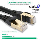 Cat8 Cat7 Shielded 40G Patch Network Cable Rj45 Ethernet 6 10 25 50 66 100ft lot
