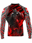 Raven Fightwear Men's The Gods of Scandinavia Tyr Rash Guard MMA BJJ Black