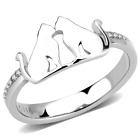 HCJ NEVER FADE STAINLESS STEEL 2 CATS ANIMAL LOVER FASHION RING SIZE 5 - 10 image