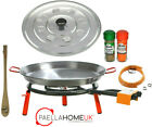 30cm - 36cm Original Paella Pan & 25cm Gas Burner Kit + Authentic Spanish Gift