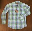 NWT Men's Bills Khakis Victory Plaid Blue Multi Classic Long Sleeve Shirt $29.95 USD on eBay