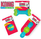 KONG CoreStrength Ball or Bone Rubber Dog Toy Durable Reinforced Core Chew Toy