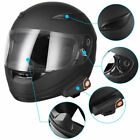 Motorcycle Helmet w Wireless Bluetooth Headset Full Face Motorbike Helmets DOT