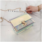 Women's PVC Transparent Clear Shoulder Bag Tote Jelly Candy Summer Beach Handbag