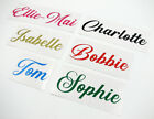 Personalised Name Sticker Vinyl Decal For Tablet Laptop Water Bottle Lunch Box