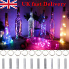 Wine Bottle 20 Led String Lights Battery Operated For Home Decoration Metallic