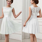 Womens Lace Short Skater Dress Evening Party Cocktail Bridesmaid Wedding Dress