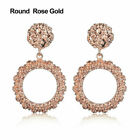 Women Punk Big Gold Dangle Drop Earrings Metal Statement Geometric Chic UK