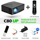 Proyector 1280x720 Resolution, 2200 Lumens With Android WIFI Beamer Home Cinema