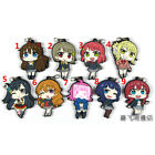 Anime LoveLive Rubber Keychain Key Ring Rare straps cosplay