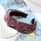 Women's Knot Tie Hairband Headband Crystal Wide Cross Hair Band Hoop Accessories