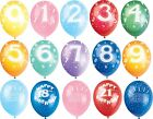 Balloons Birthday Ages  1 to 100  Party Decorations - Pack 5 Helium fill