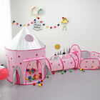 Внешний вид - 3in1 Outdoor Children Playhouse Kids Crawling Tunnel Toddlers Foldable Play Tent