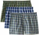 Fruit of the Loom Men's Boxer 3 Pack Big Man Sizes Plaid Tag Free