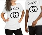 Gucci GG Logo Short Sleeve Crewneck T-SHIRT  Men Women Unisex Parody