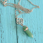 Women Crystal Birthstone Dangle Pendant Charms Necklace Chain Jewelry Gift