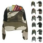 Baseball Cap Ear Flap Pocket Sun Neck Cover Bonnie Visor Camo Hiking Fishing