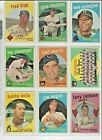 1959 Topps EX+/EX-NM+ Nice Sharp Cards ! Pick From List Complete Your Set !