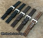 WHOLESALE Lot of 5pcs Military Style Leather Watch Strap Band Size 18/20/22mm image