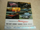 1968 Dodge Dart Coronet Polara Monoco Car Auto Sales Brochure $7.99 USD on eBay