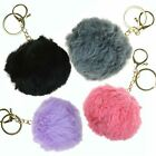 Cute Faux Fur Pom-pom Key Chain Bag Charm Fluffy Ball Keyring Pendant Dangle