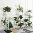 Metal Floor-Standing Outdoor 4-Pot Planter Stand Flower Plant Creative Decor USA