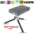 4K Smart DLP LED Mini Projector 8G Home Cinema Android7.1 Dual-band WiFi BT4.0