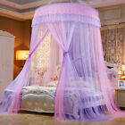 Elegant Lace Bed Mosquito Netting Canopy Princess Queen Round Dome Bedding Net