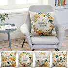 Square 18'' Pumpkin Cushion Cover Square Pillow Case Thanksgiving Day Decor GIFT
