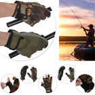 Fish Equipment Keep Warming Breathable Fishing Gloves 3 Finger Cut PU Leather