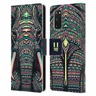 HEAD CASE AZTEC ANIMAL FACES LEATHER BOOK WALLET CASE COVER FOR SAMSUNG PHONES 1