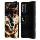 HEAD CASE DESIGNS WILDFIRE LEATHER BOOK WALLET CASE FOR SAMSUNG PHONES 2