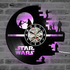 Star Wars Vinyl Record Wall Clock Hollow CD Decor Creative Antique LED Clock