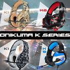3.5mm USB Gaming Headset MIC LED Headphones Stereo for PC PS4 Slim Pro Xbox one
