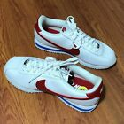 Nike Mens Classic Cortez White/Royal/Red Leather Running Shoes 882254-164 Size 9