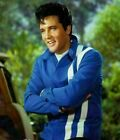 MENS ELVIS PRESLEY ROCK & ROLL RED & BLUE COTTON LEATHER JACKET NEW
