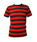 Red And Black Striped Dennis The Menace Style Fancy Dress T-Shirts / Party Tops