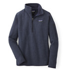 Patagonia Women's Better Sweater Jacket 1/4 Zip Fleece, Navy