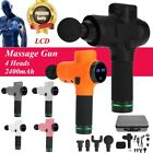 LCD Percussion Massager Gun Massager Deep Muscle Relax Vibration Therapy Device