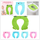Travel Portable Folding Potty Training Toilet Seat Cover, Non Slip Silicone Pads image