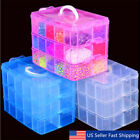 Kyпить Clear Plastic 3-Layers Jewelry Bead Storage Box Container Organizer Case Craft  на еВаy.соm