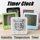 Waterproof Shower Alarm Clock Suction Countdown Wall Bathroom Temperature Sensor