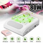 Nail Art Suction Dust Collector Pull Filter 80W UV Gel Polish Tip Vacuum Cleaner