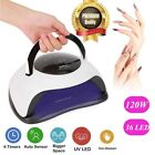 120W Nail Dryer LED UV Lamp Nail Gel Curing Lamp Nail Art Tools Manicure Machine
