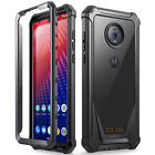 Motorola Moto Z4 Case Poetic Full-Body Hybrid Bumper Shockproof Cover