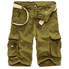 New Men Casual Shorts Pants Summer Camouflage Baggy Pocket Cotton Cargo Shorts