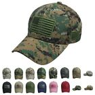 US FLAG Baseball Cap Military Outdoor Hiking Camo  Golf Cotton Visor Hip Hop Hat