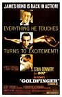 "Goldfinger 1964 Movie Silk Fabric Poster 11""x17"" 24""x36"" $9.99 USD on eBay"